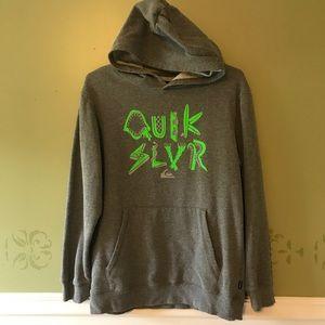 Quicksilver gray/lime fleece hoodie, boys XL